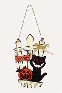 Black Orange Halloween Street Split Joint Frenulum Letter Character Costumes