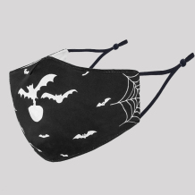 Black Fashion Casual Skull Head Print Split Joint Mask