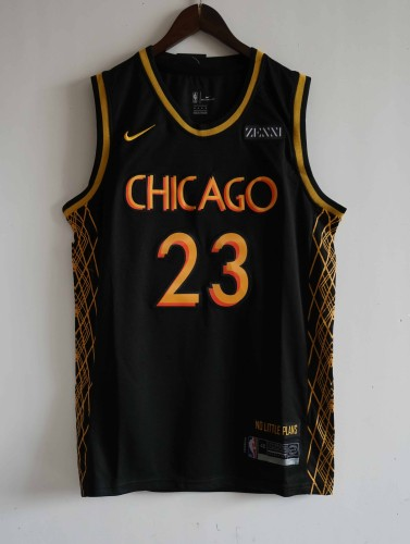 NBA NIKE Jersey Chlcago NO.23 black