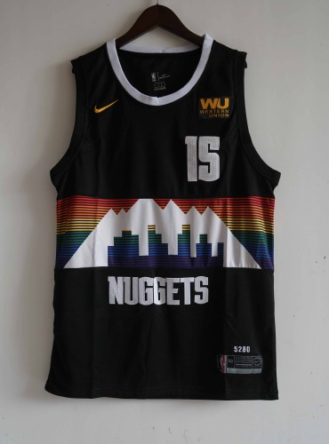 NIKE Jersey Nuggets  NO.15 black