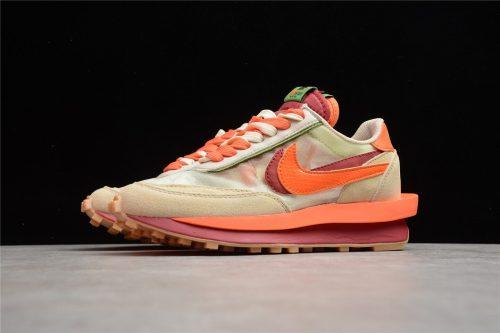 Nike LDWaffle CLOT sacai Net Orange Blaze  DH1347-100