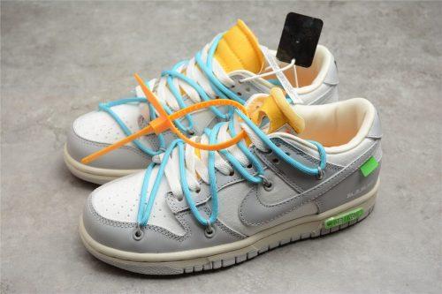 Off-White x Nike SB Dunk Low OW White Grey Blue  DM1602-115(SP batch)