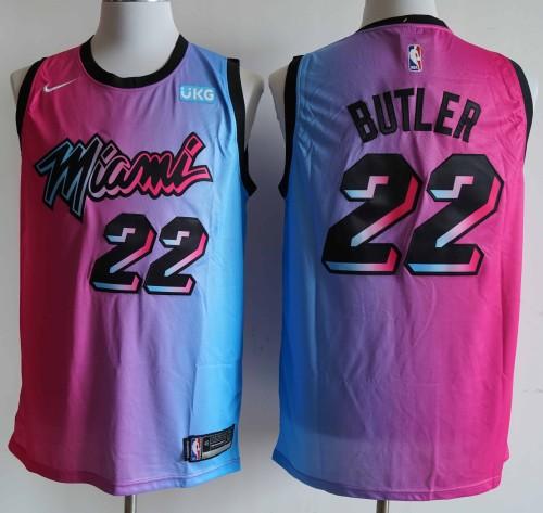 NBA NIKE Jersey Miam NO.22 Pink blue