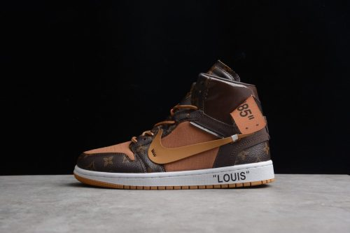 Air Jordan 1 X Off-Louis AJ1 OW AQ0818-158 Brown Orange AQ0818-158(SP batch)