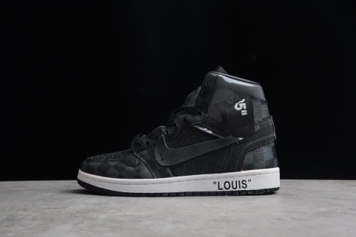 Air Jordan 1 X Off-Louis AJ1 OW AQ0818-158 Black gray AQ0818-158(SP batch)