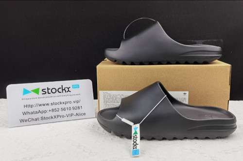 (Free Shipping)Kanye West x Adidas Yeezy Slide Resin Core Black FX0495