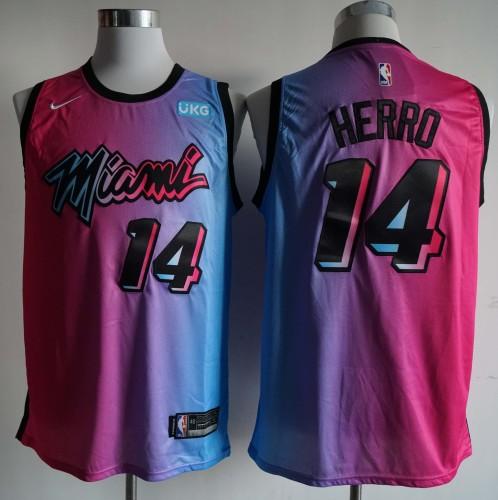NBA NIKE Jersey Miam NO.14 Pink blue