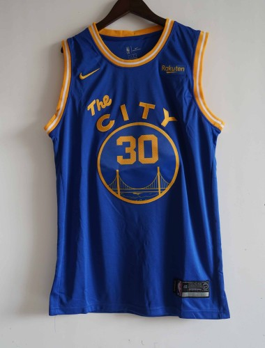 NBA NIKE Jersey Theclty NO.30 blue