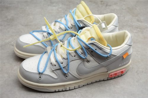 Off-White x Nike SB Dunk Low The 50 NO.10 White Grey Blue Yellow DM1602-112(SP batch)