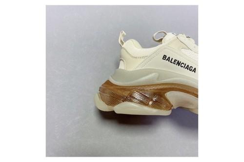 "Balenciaga triple s clear sole sneaker ""purplewhite"" 544351 w06e1 1000(SP batch)"
